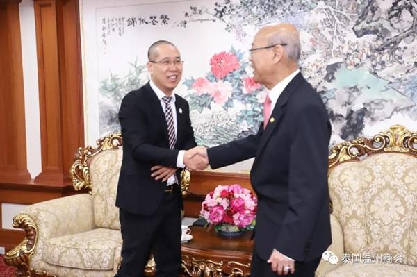 泰国温州商会拜访中华总商会陈振治主席