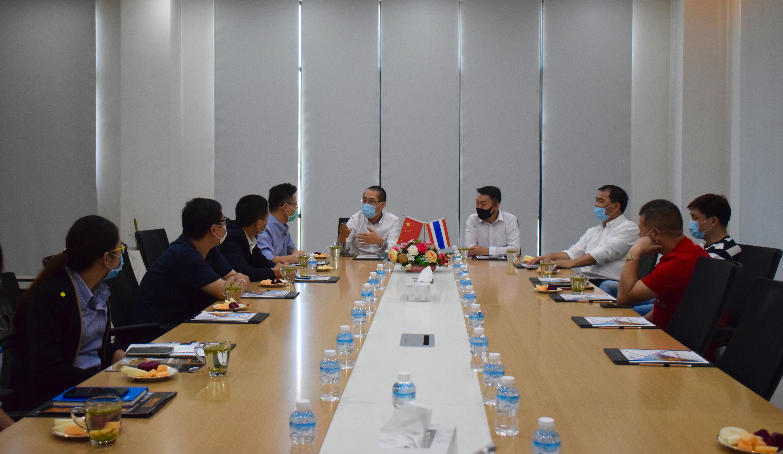 泰国温州商会代表团拜访泰中罗勇工业园